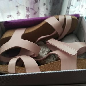 Eric Michael wedge sandals-new in box.